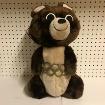 "Vintage 1980 Moscow Russia Olympic Games Mascot Misha Plush Bear 18"" NWT - $49.49"