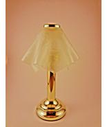 Venetian Tealight Lamp Brass Frosted Glass Handkerchief Shade Partylite ... - $24.75