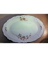 "Winterling, Moss Rose, Vintage Oblong Serving Platter, 13"" - $30.96"