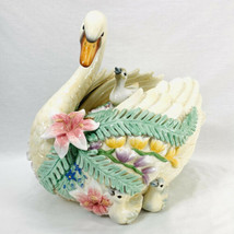 "Fitz & Floyd Classics Large Swan and Babies Cookie Jar 14 1/2"" x 15"" x 11.5"" - $90.22"