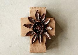 Creative Co-op Chunky Cross with Flower DA6753 - BRAND NEW - $21.00