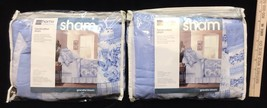 Pillow Shams Quilted Graceful Bloom Blue JC Penny Home Collection  Standard Size - $18.80