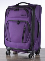 """American Tourister Go! 20"""" Softside Spinner Suitcase Carry-on Go Pocket Purple - $70.00"""