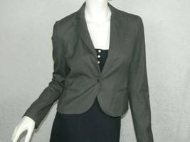 Theory Blazer  Gray Wool Jacket One Button Lined Blazer Size 4 - $37.18