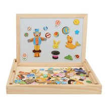 Wooden Magnetic Puzzle Kids Jigsaw Drawing Board(MULTI-B) - $15.86
