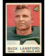 VINTAGE NFL 1959 Topps #152 Buck Lansford UER VG/VGEX  - $5.18