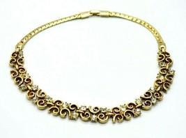 TRIFARI Patent Pending Clear Rhinestone Phillipe Gold Tone Choker Neckla... - $74.24