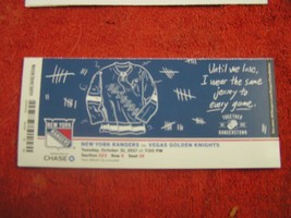2017-18 NY Rangers Milestone Ticket Stub Henrik Lundqvist 408th career NHL win - $8.90