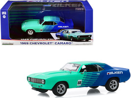 "1969 Chevrolet Camaro #88 ""Falken Tires\"" 1/43 Diecast Model Car by Greenlight - $33.23"
