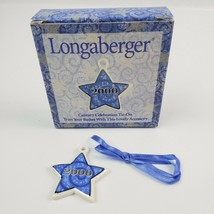 New in box Longaberger Basket Tie-On Year 2000 Porcelain Star Blue & white - $11.29