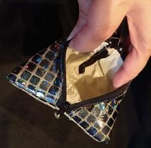 Pyramid Bag/Wristlet/Gift Bag - Black Hologram/Holographic shiny dots image 5