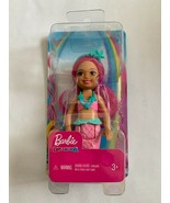 Barbie Dreamtopia Chelsea Mermaid Doll, 6.5-inch with Pink Hair and Tail... - $8.90