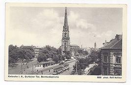 Germany Karlsruhe Church Durlacher Tor Bernharduskirche Trolley Vintage ... - $6.69