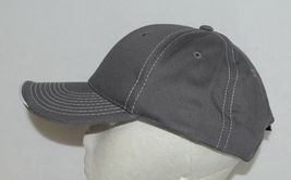 OC Sports BTP 100 Twill Cotton Cap Grey Visor Piping Accent White Adult image 3