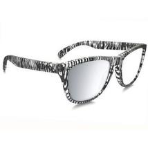 OAKLEY OO9013-70 Frogskins Sunglasses Urban Jungle Matte Clear/Chrome Iridium - $79.19