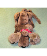 "VINTAGE MANHATTAN TOYS 18"" HERMAN the HOUND DOG PLUSH STUFFED PUPPY RED ... - $48.51"