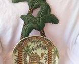 Beautiful Decorative Collectible 1880 Oriental Camel Plate and Stand