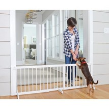 White Step Over Pet Safety Gate Home Expandable Design Doorway Cardinal ... - $93.29