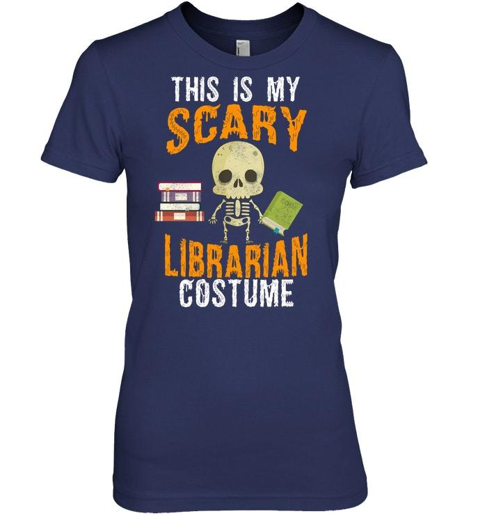 Funny Scary Librarian Costume Halloween Party Tshirt