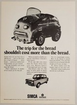 1968 Print Ad Simca 4-Door Cars Chrysler Corporation  - $12.07