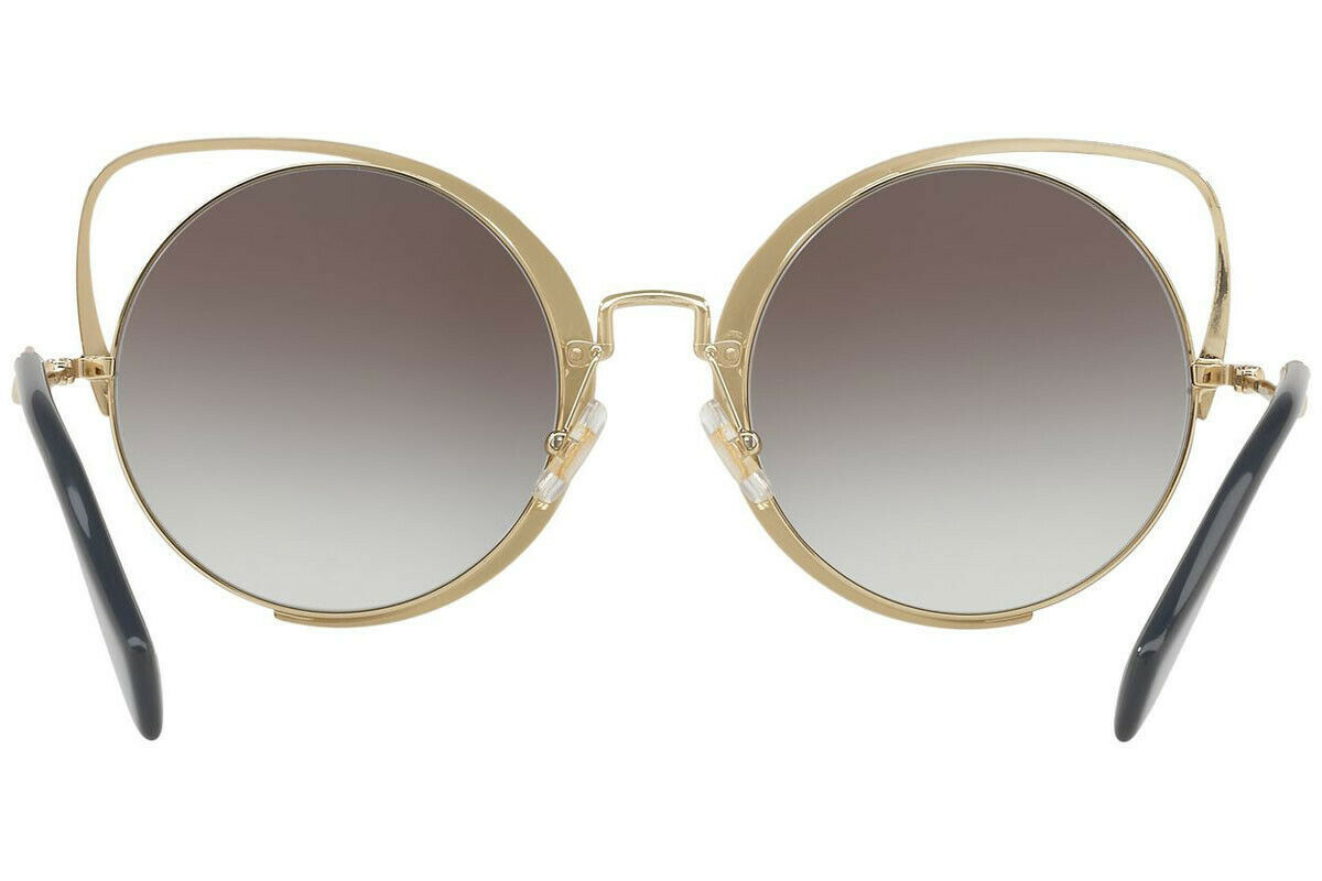 MIU MIU SQENIQUE Black Pale Gold Grey Gradient Oversized Sunglasses MU51TS
