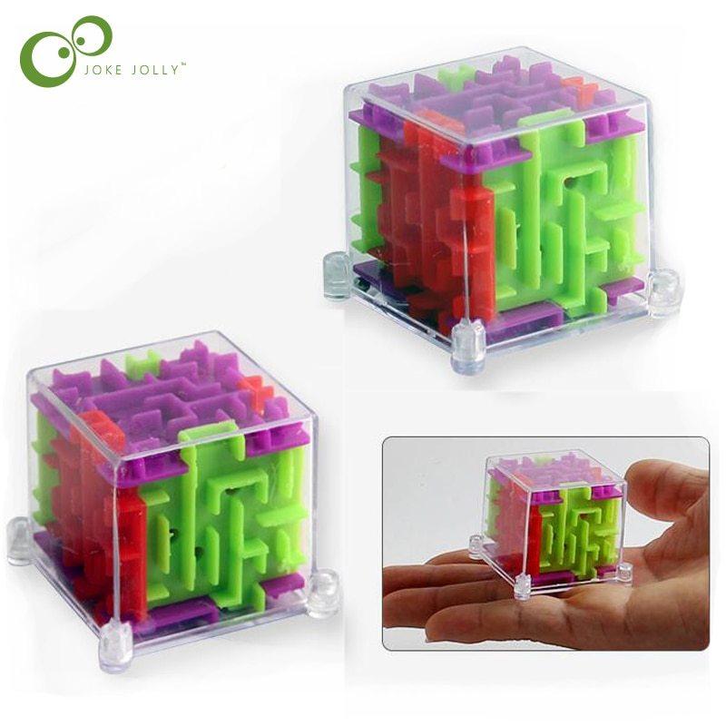 2018 new 2pcs lot mini 3d maze magic puzzle speed puzzle game maze ball educational toys
