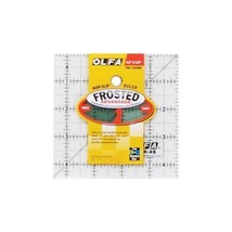 """OLFA Frosted Advantage Non-Slip Ruler """"The Charm""""-4-1/2""""X4-1/2"""", Se... - $22.78"
