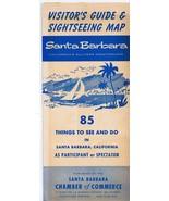ORIGINAL Vintage 1966 Santa Barbara Visitor's Guide Sightseeing Map Travel - $12.19