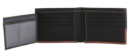 Timberland Men's Genuine Two Tone Leather Credit Card Billfold Commuter Wallet image 14