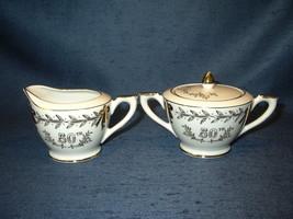Lefton China Cream & sugar bowl set 50th Golden Anniversary no. 274 vintage - $12.46