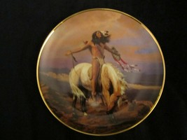 SPIRIT OF THE SKIES collector plate HERMON ADAMS Native horse WESTERN HE... - $9.99