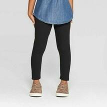 Cat & Jack Toddler Girls Fleece Leggings Black Size 2T NWT - $6.29