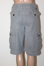 Vintage AMERICAN EAGLE Men's Size 28 Seersucker Cargo Longer Length Shorts - $531,41 MXN