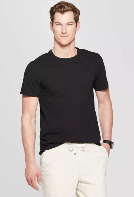 Goodfellow & Co Men's Standard Fit Short Sleeve Lyndale Crew Neck T-Shirt