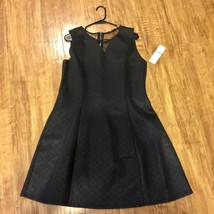Sharagano Mesh Inset Skater Dress Black Size16 MSRP $109 NEW W TAG - $49.99