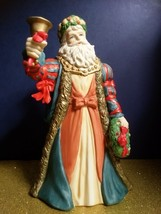 Vintage Christmas 1989 Lefton Musicbox Victorian Santa Claus: Plays Jingle Bells - $29.40