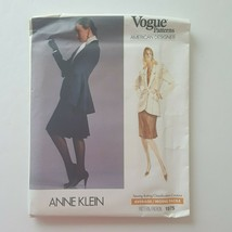 Vogue 1975 American Designer Anne Klein Jacket Skirt Sewing Pattern Size... - $15.83