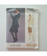 Vogue 1975 American Designer Anne Klein Jacket Skirt Sewing Pattern Size... - $15.83