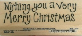 Stampabilities Rubber Stamp Merry Christmas Love Hope Joy to You Card Ma... - $4.99