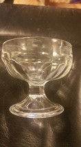 Old Vintage Clear Glass Federal Colonial Panel Footed Sherbert Pedestal ... - $12.19