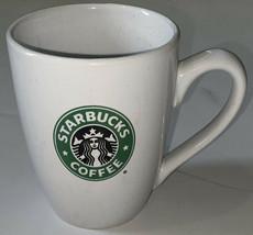Starbucks Coffee Cup Mug 2008 Mermaid Siren Logo White Green 10.2 fl.oz. - $14.85