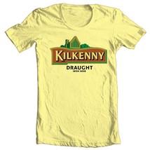 Kilkenny Irish Beer T-shirt bar Ireland 100% cotton graphic printed yellow tee image 2