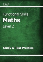 Functional Skills Maths Level 2 - Study & Test Practice by CGP Books,  C... - $14.19