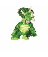 Underwraps Triceratops Green Dinosaur Infant Toddler Halloween Costume 2... - $28.99