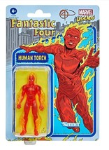NEW SEALED 2021 Kenner Marvel Legends Retro Human Torch Action Figure - $24.74