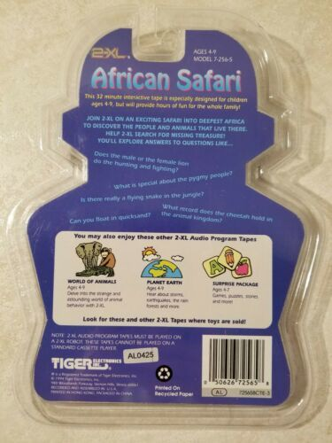 Tiger 2-XL Talking Robot Audio Program Tape African Safari New