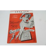 VTG  PIANO SHEET MUSIC LONG AGO AND FAR AWAY RITA HAYWORTH COVER GIRL 1944 - $5.89