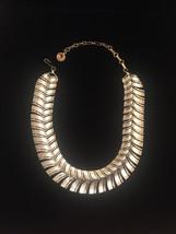 Vintage 60s Segmented Gold Spine Choker Necklace