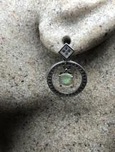 Vintage Deco White Opal 925 Sterling Silver Drop Earrings - $99.22