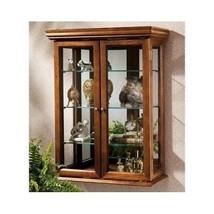WALL MOUNT CURIO CABINET Glass Display Case Shelf Shelves Storage FURNIT... - $197.15